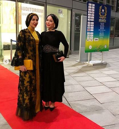 مدل لباس مليکا شريفي نيا در اختتاميه جشنواره بين المللي فيلمهاي ورزشي ميلان - عکس شماره 2