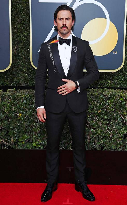 مدل کت و شلوار ميلو ونتيميگليا Milo Ventimiglia در مراسم گلدن گلوب 2018