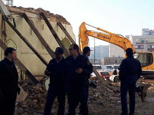 مسجد صفوی مشهد کاملا تخریب شد