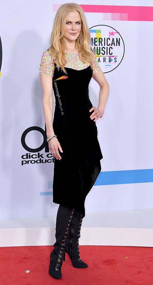 مدل لباس نيکول کيدمن Nicole Kidman در American Music Awards 2017