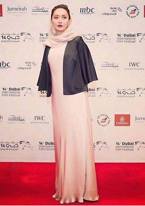 مدل لباس نيکي کريمي در جشنواره دبي