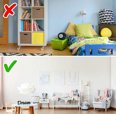 ديوار رنگي براي اتاق بچه