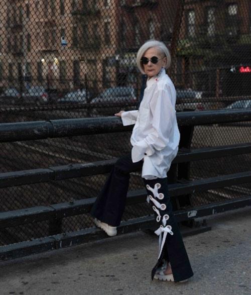لین اسلاتر lin staler ، پیرترین مدل در دنیای مد - عکس شماره 7