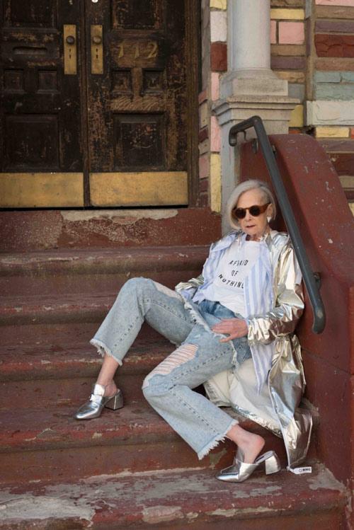 لین اسلاتر lin staler ، پیرترین مدل در دنیای مد - عکس شماره 3