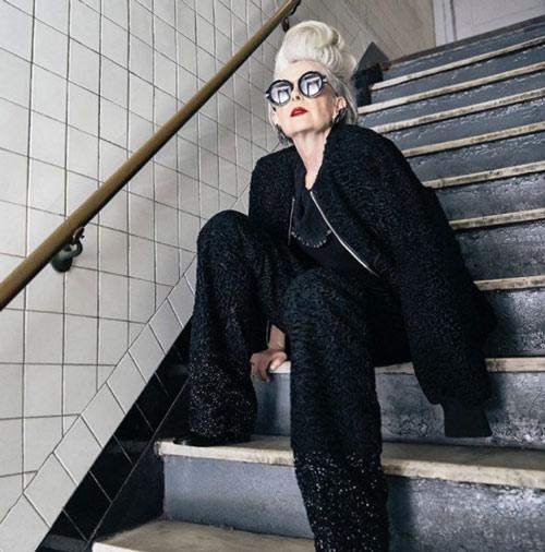 لین اسلاتر lin staler ، پیرترین مدل در دنیای مد - عکس شماره 6