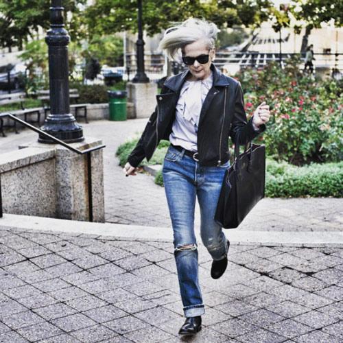 لین اسلاتر lin staler ، پیرترین مدل در دنیای مد - عکس شماره 4
