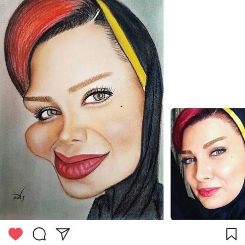 کاریکاتور چهره پریچهر مشرفی