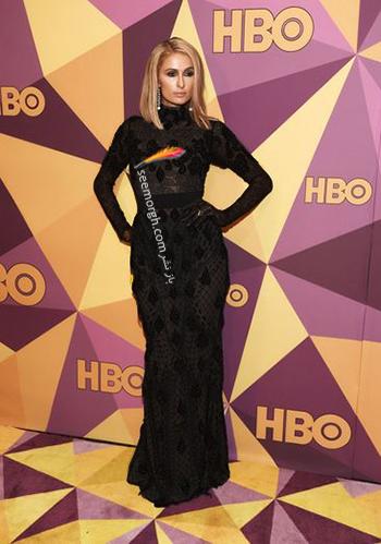 مدل لباس پاريس هيلتون Paris Hilton در ميهماني بعد از گلدن گلوب Golden Globe 2018