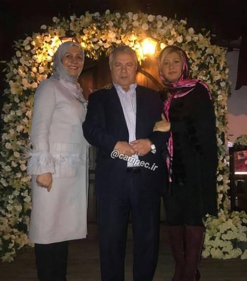 علي پروين در کنار همسر و دخترش