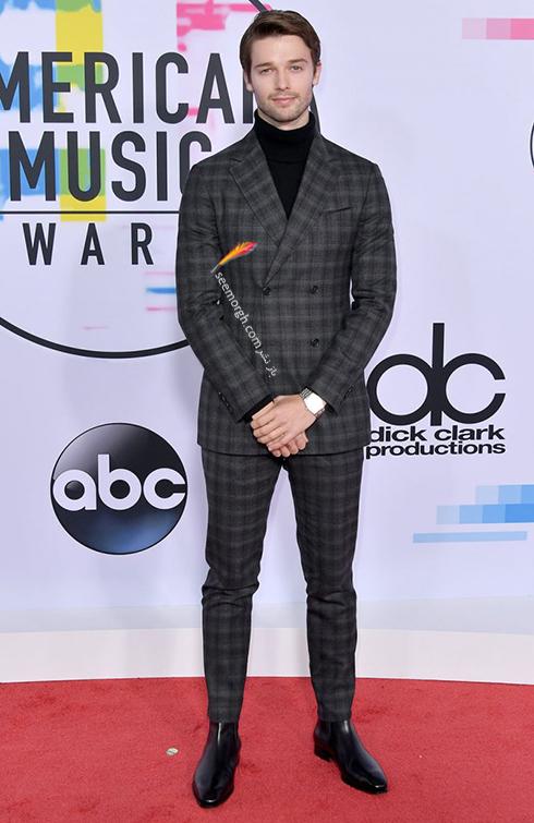 مدل کت و شلوار پاتريک شوارتزنگر Patrick Schwarzenegger در American Music Awards 2017