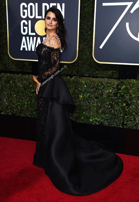 مدل لباس پنه لوپه کروز Penelope Cruz در مراسم گلدن گلوب 2018