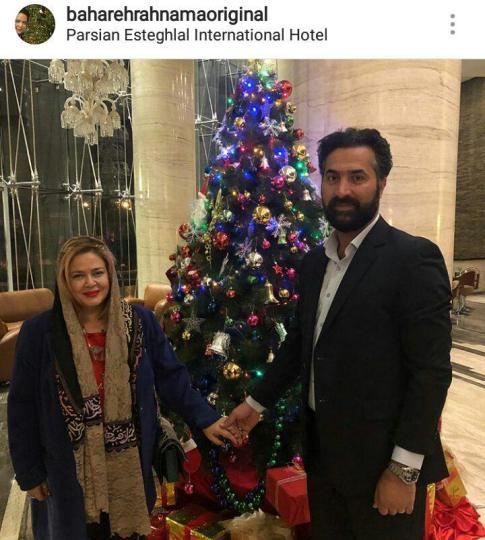 عکس بهاره رهنما و همسرش