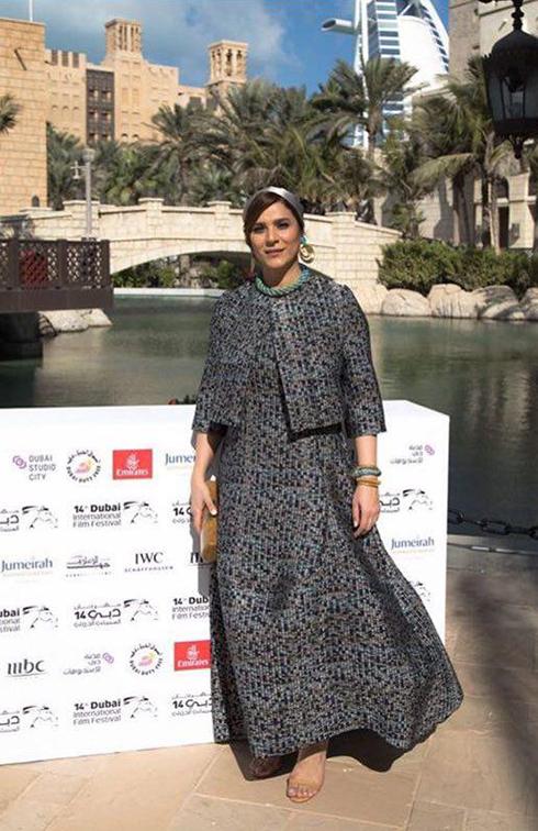 مدل لباس سحر دولتشاهي از طراحي هاي نازنين صفا در جشنواره دبي
