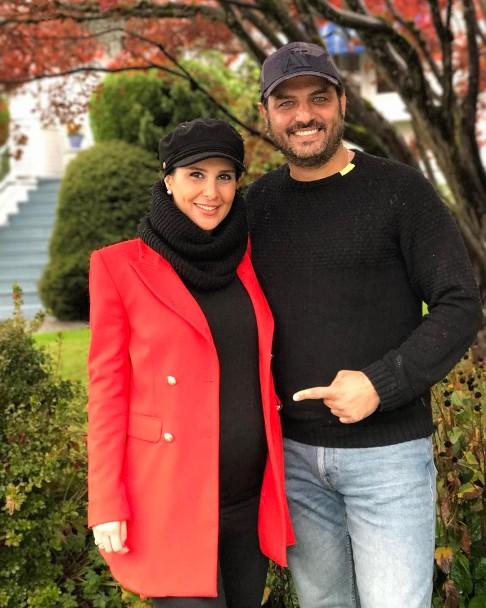 سام درخشانی و همسرش عسل