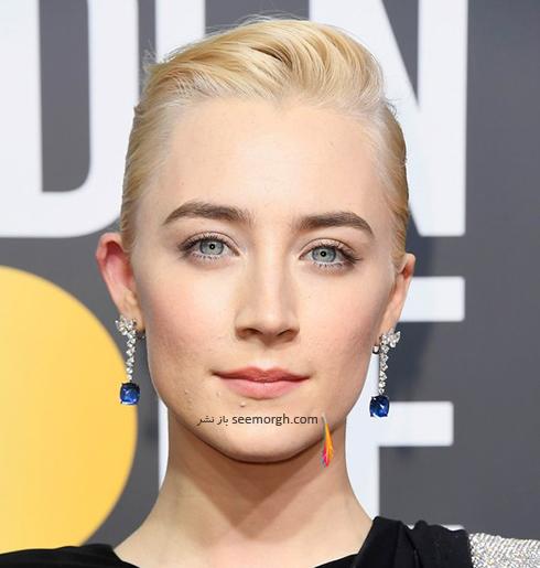 آرايش صورت سائورس رونان Saoirse Ronan در مراسم گلدن گلوب 2018 Golden globe
