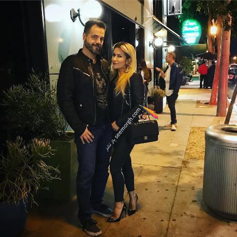 سپیده در کنار همسرش