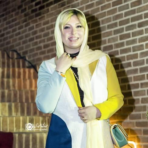 نیوشا ضیغمی در افتتاحیه آمفی کافه مجید مظفری