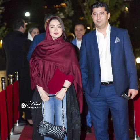 شیلا خداداد و همسرش در افتتاحیه آمفی کافه مجید مظفری