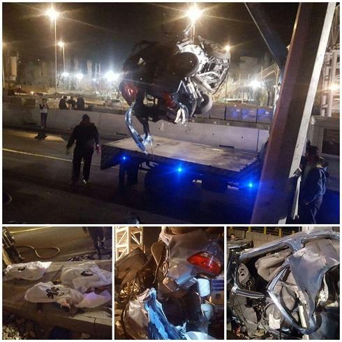 تصادف در اتوبان ارتش تهران منجر به مرگ 4 نفر شد