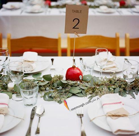 مدل تزيين ميز شام براي شب يلدا - عکس شماره 11