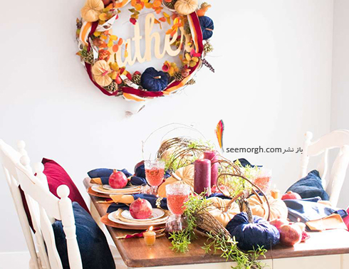 مدل تزيين ميز شام براي شب يلدا - عکس شماره 10