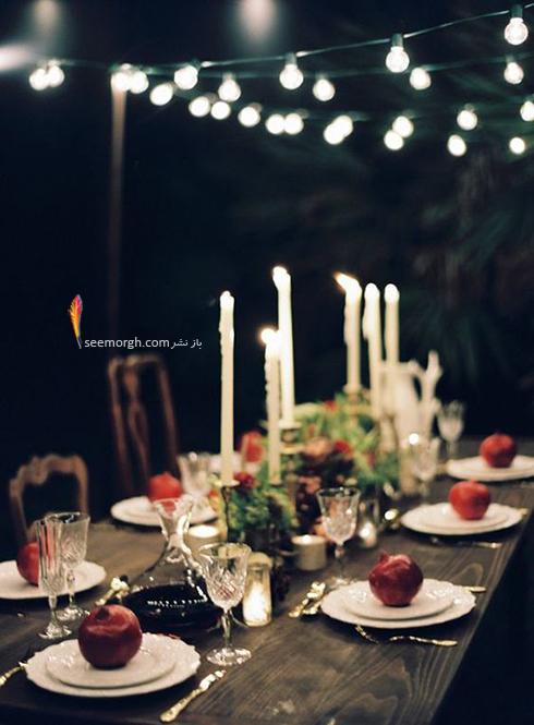 مدل تزيين ميز شام براي شب يلدا - عکس شماره 5