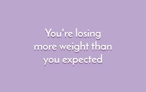 اگر بیشتر از حدی که انتظار داشتید وزن تان کاهش پیدا کرده است در حال از دست دان عضله هستید