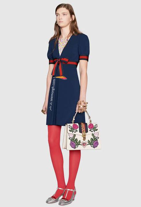 مدل لباس زنانه گوچی Gucci برای نوروز 97 ( بهار 2018 ) - عکس شماره 7