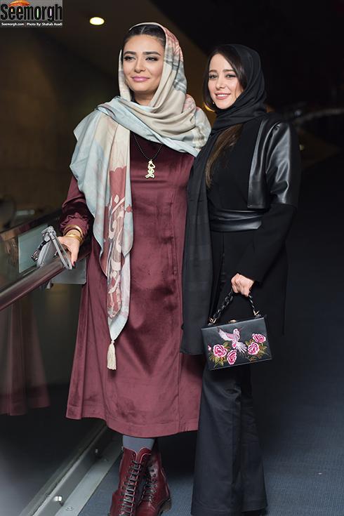 الناز حبیبی و لیندا کیانی در اکران خجالت نکش در جشنواره فجر 96