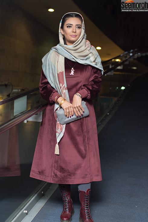 لیندا کیانی در اکران خجالت نکش در جشنواره فجر 96