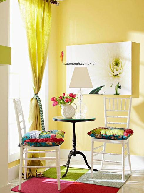 بالشتک های صندلی تکی را رنگی کنید