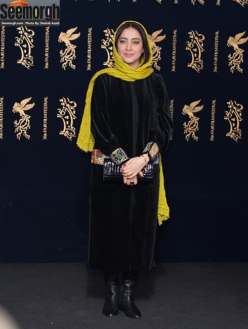مدل مانتو بازیگران در هشتمین روز جشنواره فجر 96 - بهاره کیان افشار