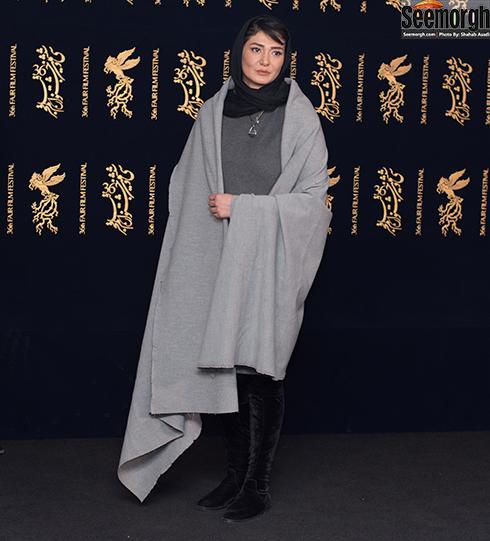 مدل مانتو بازیگران در هشتمین روز جشنواره فجر 96 - مینا وحید