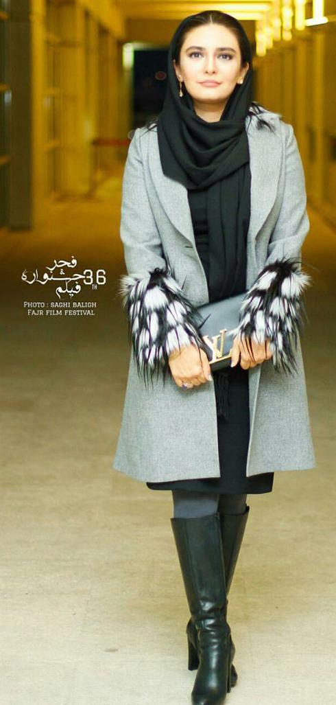 مدل مانتو بازيگران در اختتاميه جشنواره فجر 36 - ليندا کياني