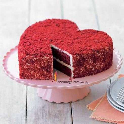 طرز تهیه کیک مخملی یا کیک ردولوت برای روز ولنتاین