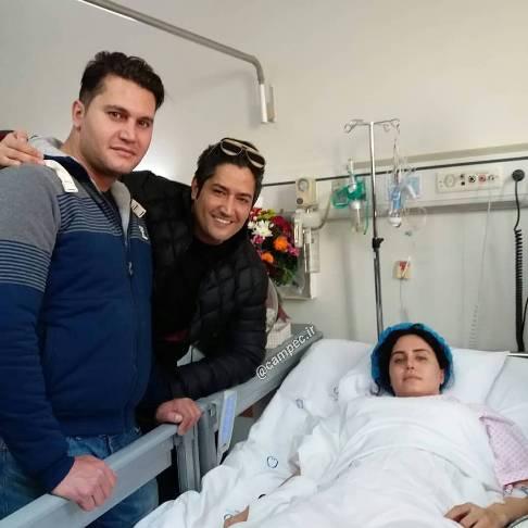 عیادت برادر الناز شاکردوست از وی در بیمارستان!