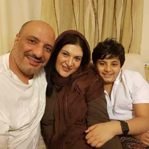 امیر جعفری و ریما رامین فر و فرزندشان در لحظه تحویل سال جدید