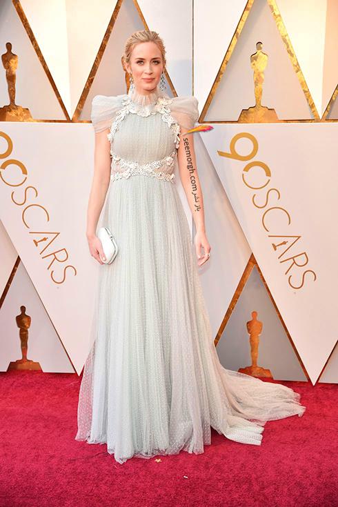 بهترین مدل لباس در مراسم اسکار Oscar 2018 - امیلی بلانت Emily Blunt