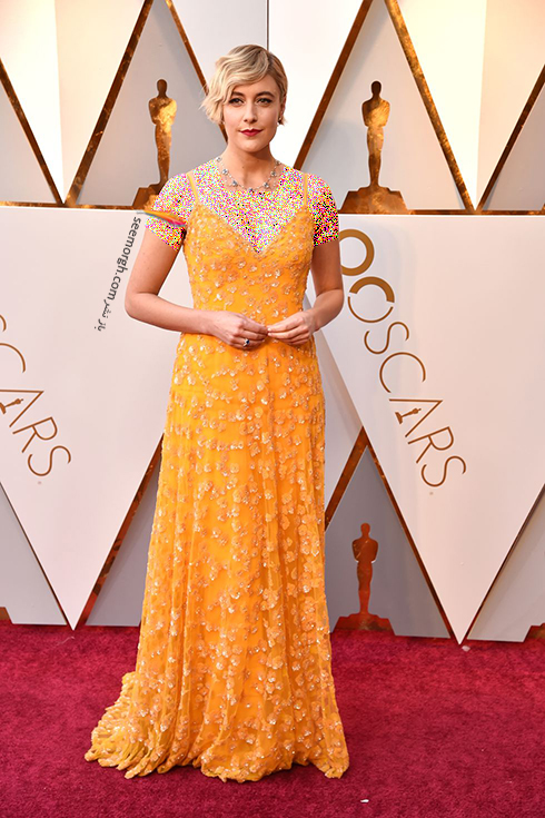 بهترین مدل لباس در مراسم اسکار Oscar 2018 - گرتا گرویگ Greta Gerwig