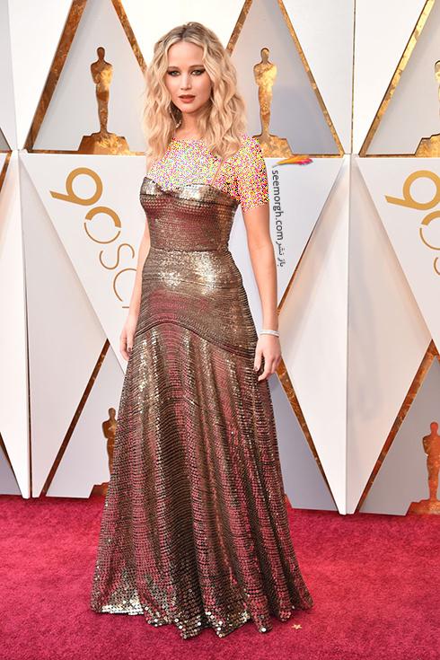 بهترین مدل لباس در مراسم اسکار Oscar 2018 - جنیفر لارنس Jennifer Lawrence