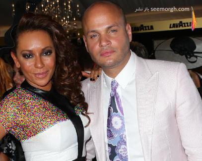 ملی بی در کنار همسر سابقش استفان