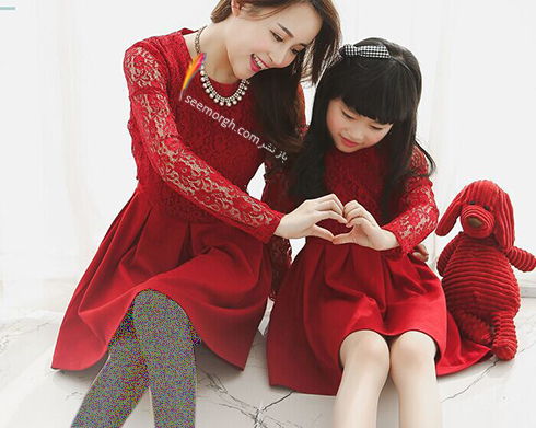 ست کردن لباس مادر و دختر به مناسبت روز مادر - ست لباس شماره 2