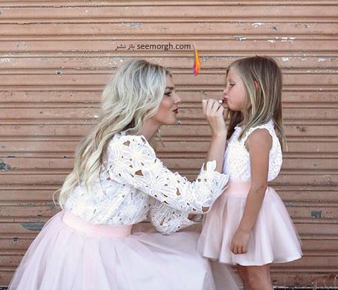 ست کردن لباس مادر و دختر به مناسبت روز مادر - ست لباس شماره 6