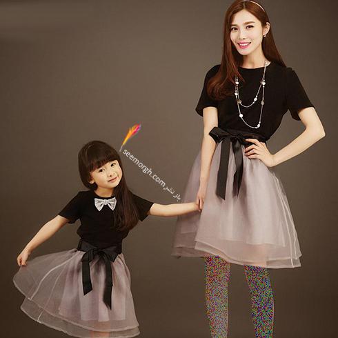 ست کردن لباس مادر و دختر به مناسبت روز مادر - ست لباس شماره 9
