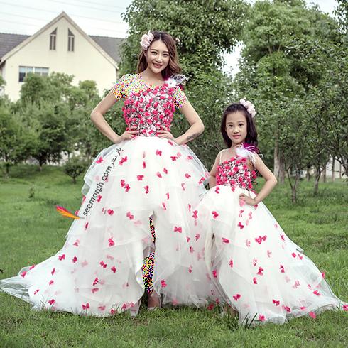 ست کردن لباس مادر و دختر به مناسبت روز مادر - ست لباس شماره 7