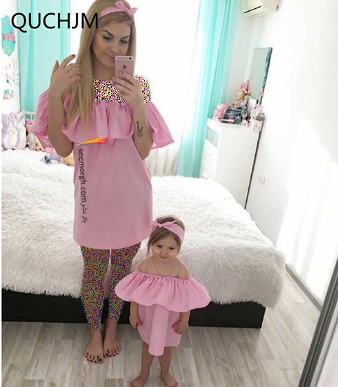 ست کردن لباس مادر و دختر به مناسبت روز مادر - ست لباس شماره 8