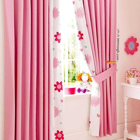 تزيين اتاق کودک با پرده هاي رنگي و فانتزي - مدل شماره 5