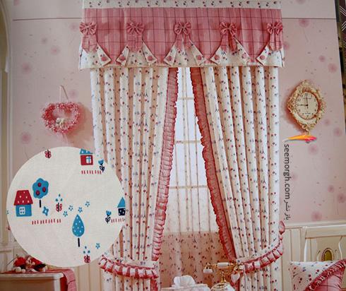 تزيين اتاق کودک با پرده هاي رنگي و فانتزي - مدل شماره 8