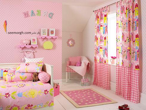 تزيين اتاق کودک با پرده هاي رنگي و فانتزي - مدل شماره 11