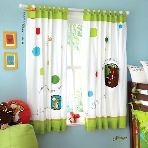 تزيين اتاق کودک با پرده هاي رنگي و فانتزي - مدل شماره 12